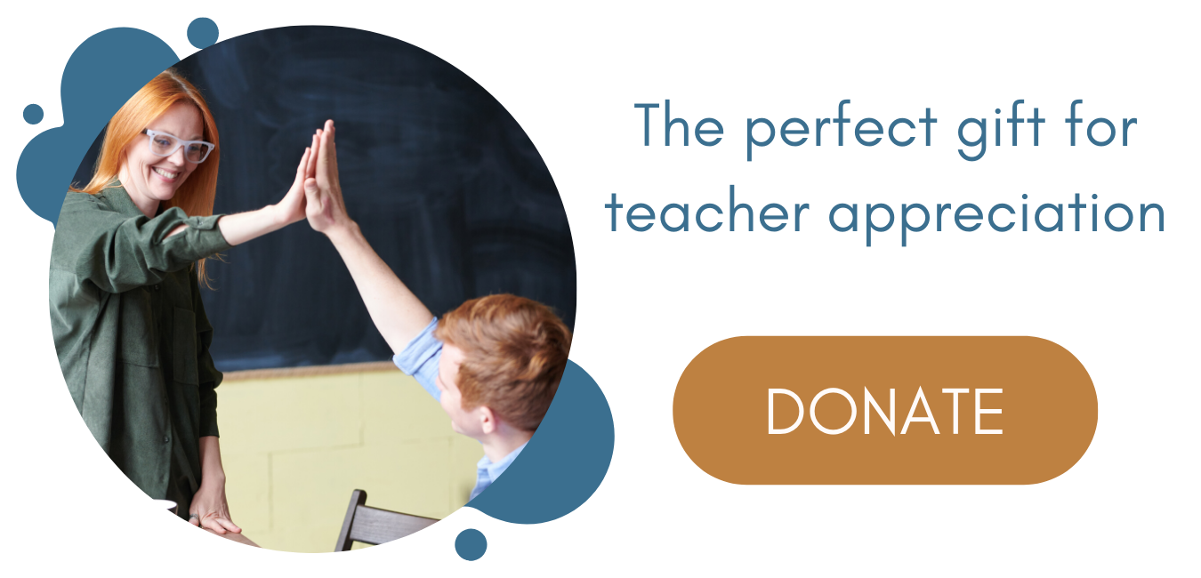 SISS perfect gift for teacher appreciation donate button
